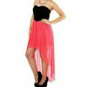 NWT High Low Strapless Dress